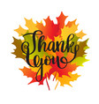happy thanksgiving day card with maple leaves vector image vector image