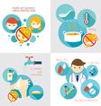 Health and Sanitation Infographics vector image