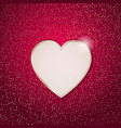 heart frame on a red grunge texture vector image vector image