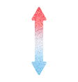 Hot and Cold Arrow Vertical FINAL vector image vector image