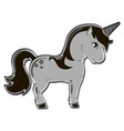 isolated object on white background animal horse vector image vector image