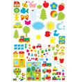 Kindergarten objects vector image vector image