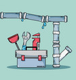 mechanic repair service and industry construction vector image vector image