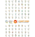 Mega collection of chart business logos vector image
