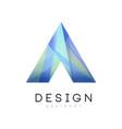minimalistic geometric logo template business vector image