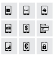 mobile banking icon set vector image vector image