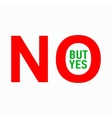 No but yes icon simple style vector image vector image