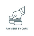 payment card sign line icon linear vector image vector image