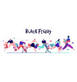 people on black friday happy shoppers with bags vector image