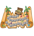Pirate treasure chest vector image