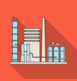 refineryoil single icon in flat style vector image vector image