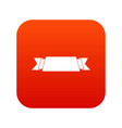 ribbon banner icon digital red vector image