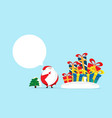 santa claus with gift boxs merry christmas and vector image vector image
