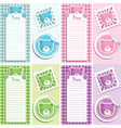 scrapbook bear design elements vector image vector image