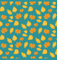 seamless autumn pattern made yellow leaves vector image