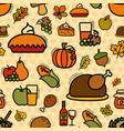 seamless thanksgiving pattern vector image