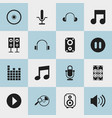 set of 16 editable song icons includes symbols vector image vector image