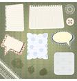 set of scrapbook design vector image