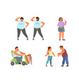 set oversize people characters vector image vector image
