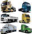 six trucks vector image vector image