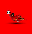 soccer goalkeeper catches the ball in a jump vector image vector image