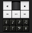 sound control keyboard and music notes vector image vector image