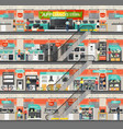 supermarket or shop mall with home appliance vector image