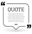 trendy block quote modern design elements vector image