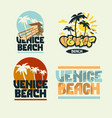 venice beach california summer time beach life vector image