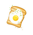 white bread egg toast fresh toasted bread with vector image