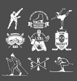 winter sport badges set vector image vector image