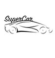 car black white vector image