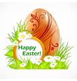 happy easter eggs signboard vector image
