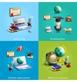 Education and learning icons set vector image