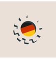 3D cog wheel with Germany flag vector image vector image