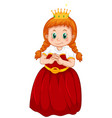 a cute princess costume vector image