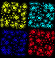 a pattern with stars and snowflakes a deep space vector image vector image