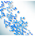 abstract background made up blue triangular vector image vector image
