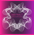 abstract flowing white frame on pink and purple vector image vector image