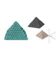 abstract futuristic pyramid set 3d different vector image vector image