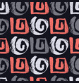 abstract patterns living coral and gray spirals vector image
