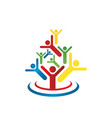 abstract people logo design charity community vector image vector image