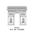 arc de triomphe triumphal arc in paris france vector image