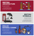 british architecture and national cuisine on web vector image vector image