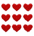 broken red heart vector image vector image