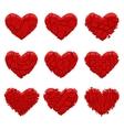 broken red heart vector image