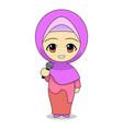cartoons muslim women singing daily fun vector image vector image