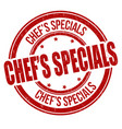 chefs specials grunge rubber stamp vector image vector image