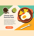 choose your favorite food web template vector image