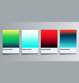 colorful gradient backgrounds set for flyer vector image